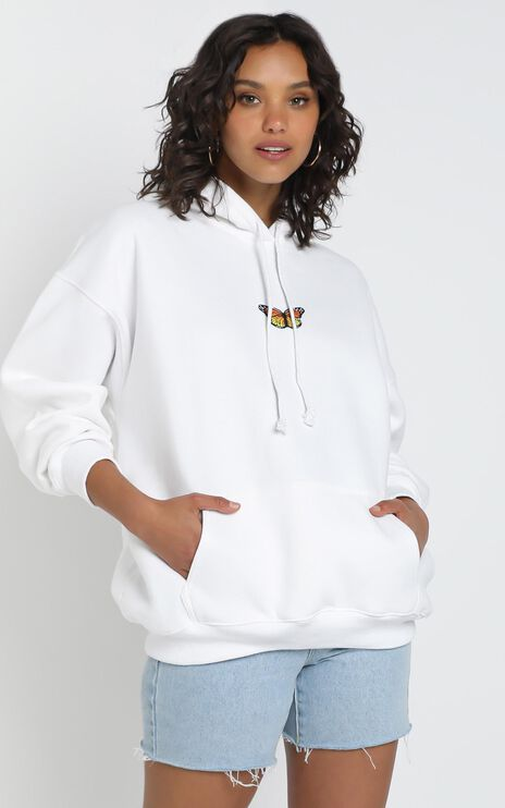 Addison Hoodie in White