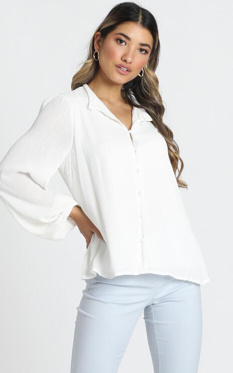 Formalities Top In White