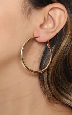 Open Spaces Hoop Earrings in Gold