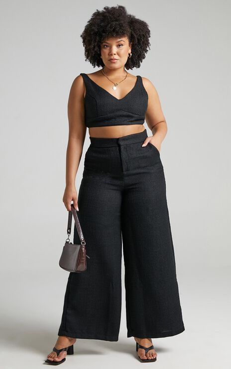 Adelaide Two Piece Set in Black