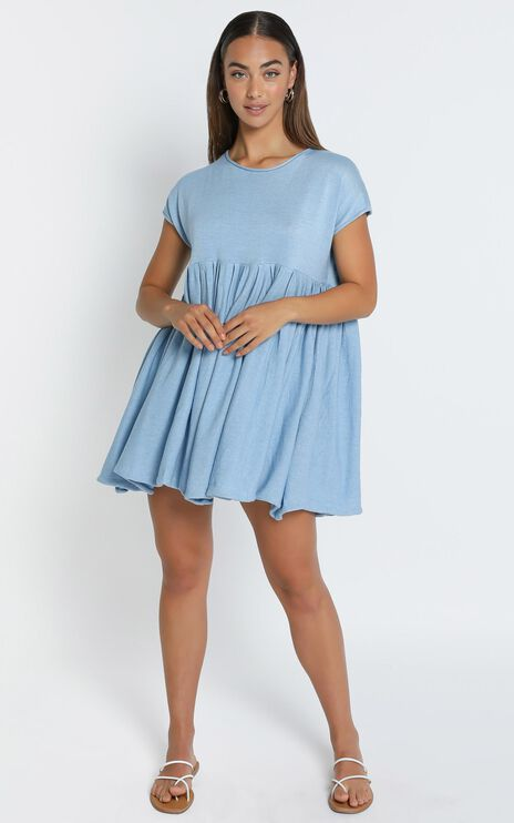 Embry Knit Dress in Powder Blue
