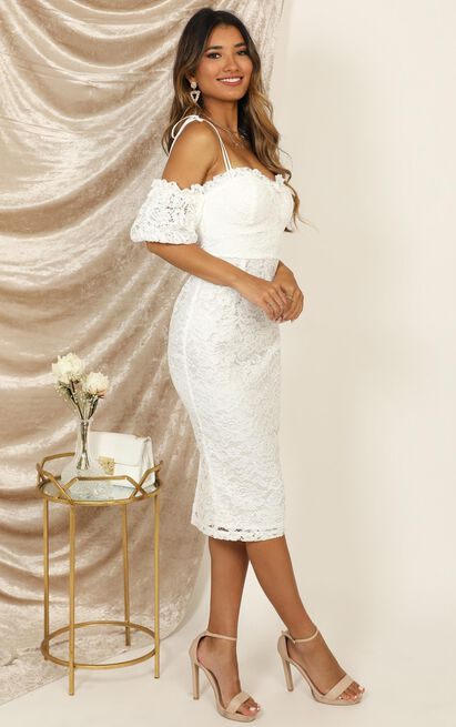 The Magic Touch Dress in white lace - 18 (XXXL), White, hi-res image number null