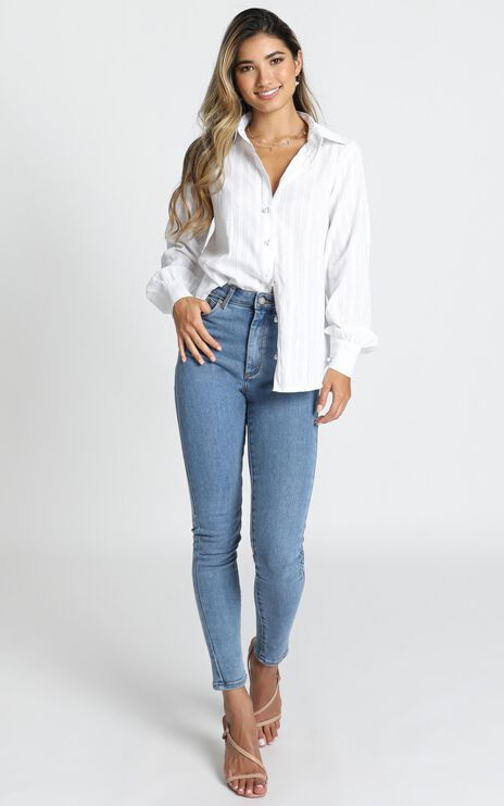 Miss Me Shirt In White