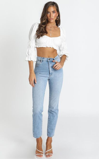 Rollas - Dusters Jean in old stone - 14 (XL), Blue, hi-res image number null