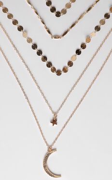 Elyse Layered Necklace in Gold