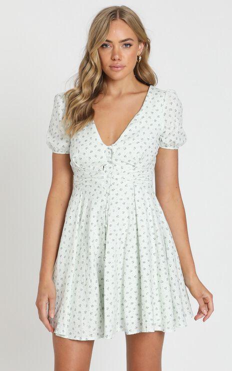 Summer Glow Dress in Blue Floral