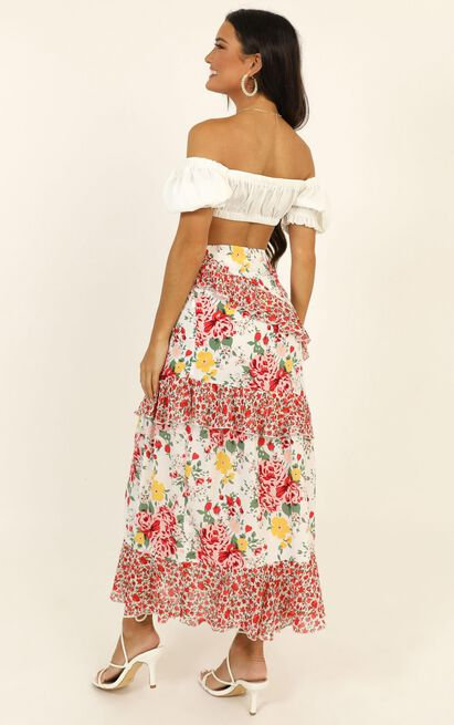 So Controversial Midi Skirt In white floral - 20 (XXXXL), White, hi-res image number null