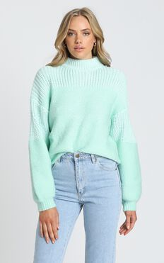 Dakota Knit Jumper in Mint