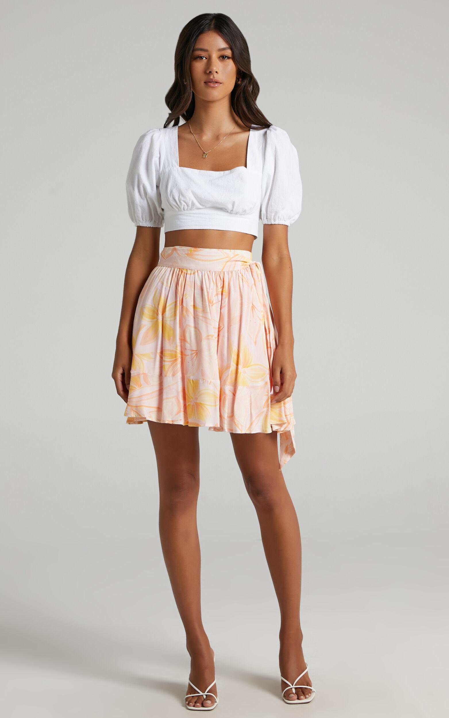 Eimear Skirt in Summer Floral - 06, PNK1, super-hi-res image number null