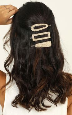 Need Me There Hair Clip Pack In gold