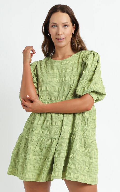 Darcia Dress in Green Check