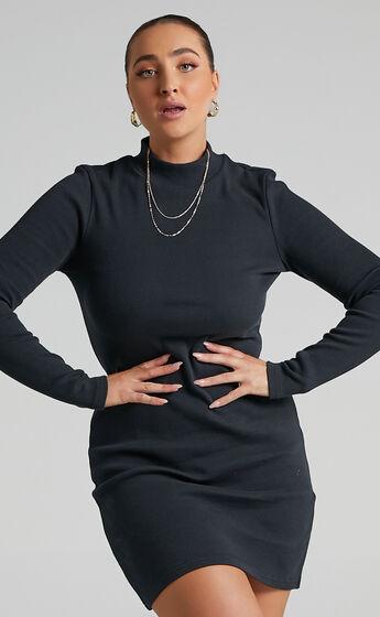 Neuw - Jonesy Long Sleeve Dress in Black