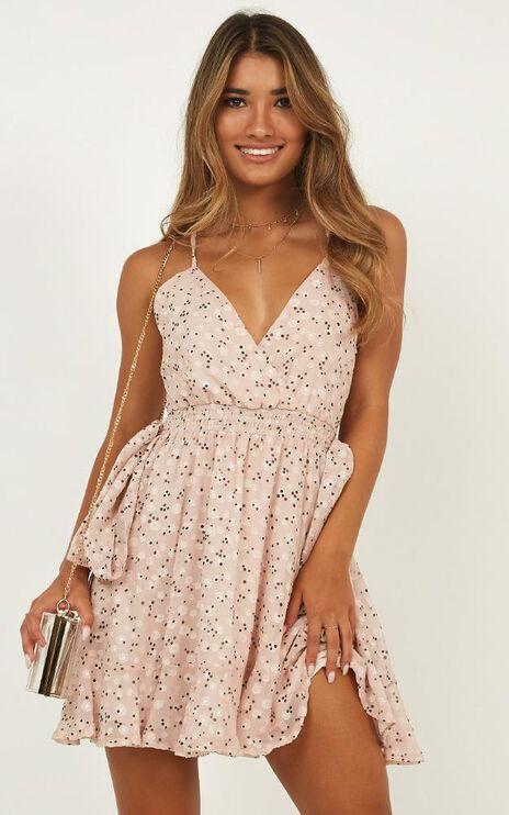 Sunshine Fun Dress In Blush Print