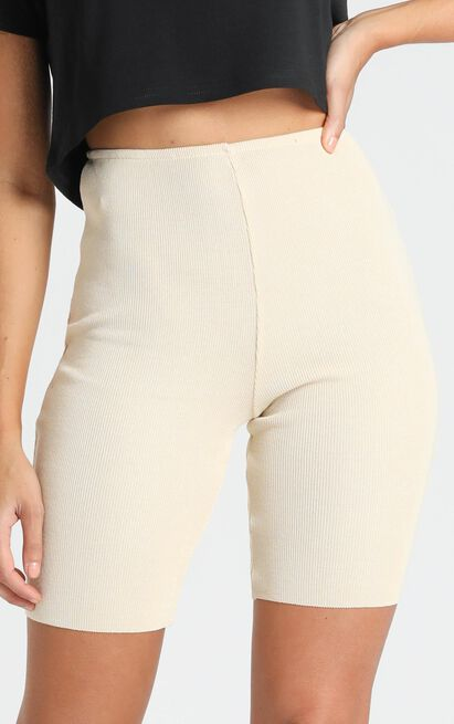 Lioness - Fall In Line Bike Shorts in ecru - 6 (XS), Beige, hi-res image number null