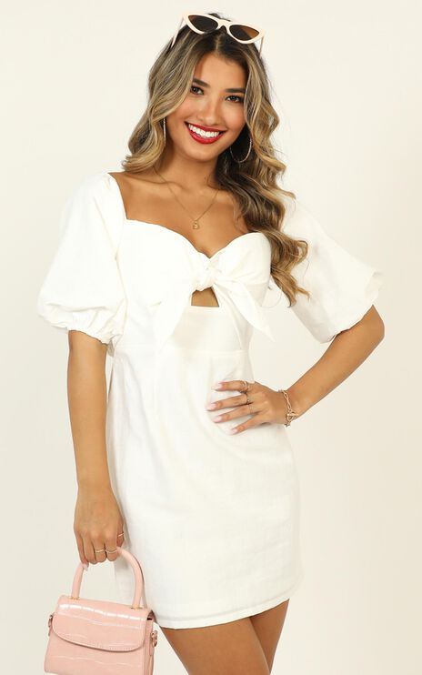 True Test Dress In White