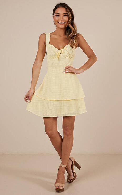 Over Looking Dress In Lemon