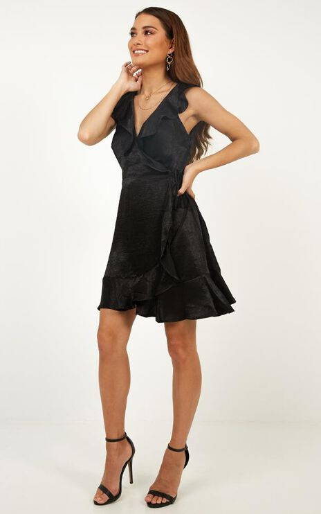 Strictly Ballroom Dress In Black Satin
