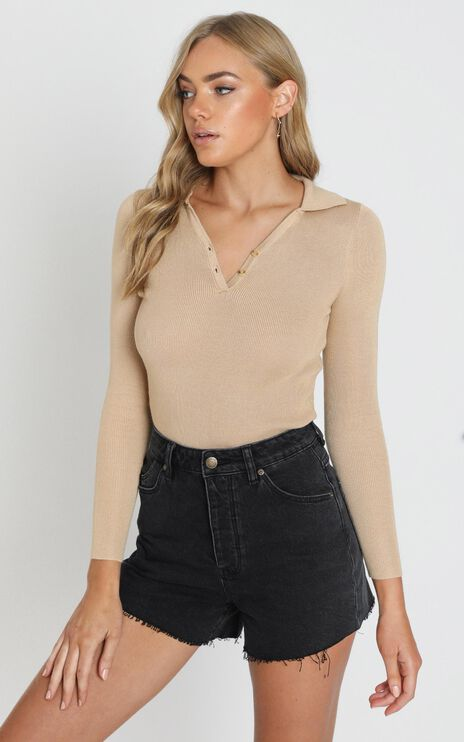Promising Future Knit Top in Camel