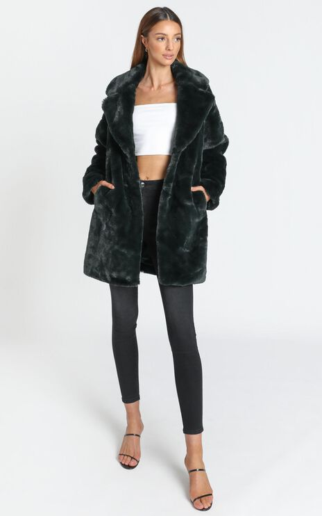 Cosy Coat in Emerald