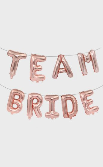 Team Bride Balloon Banner in Pink