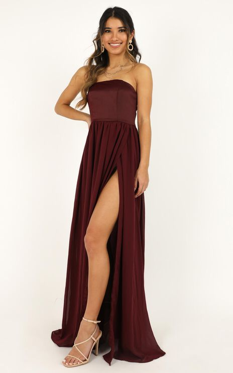 Love Bound Maxi Dress In Wine