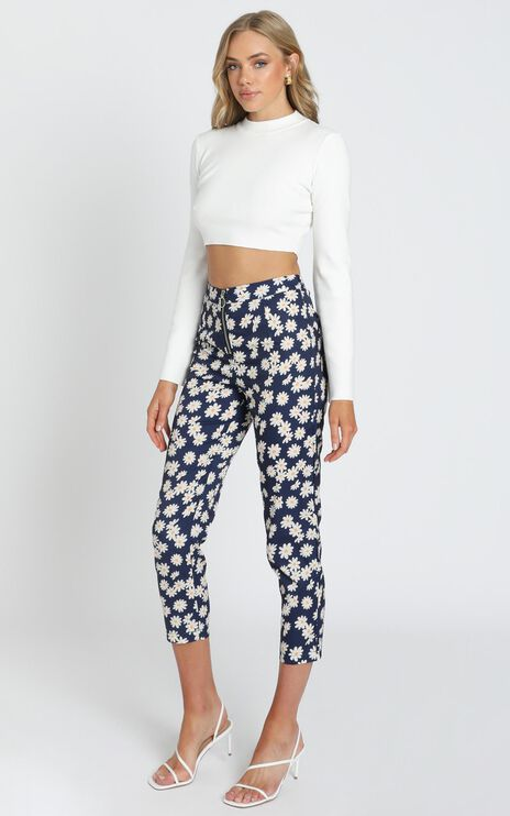 Shallon Pants in Navy Floral