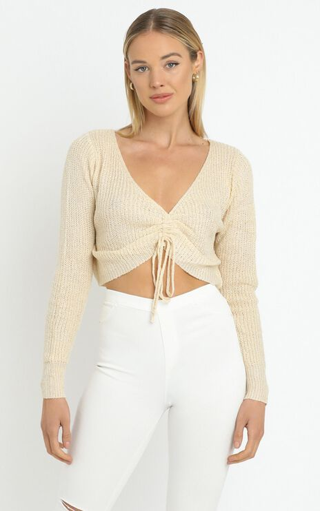 Anamarie Knit Top in Beige