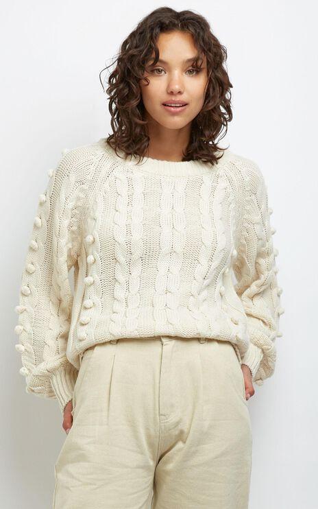 Brianna Bobble Knit In Cream