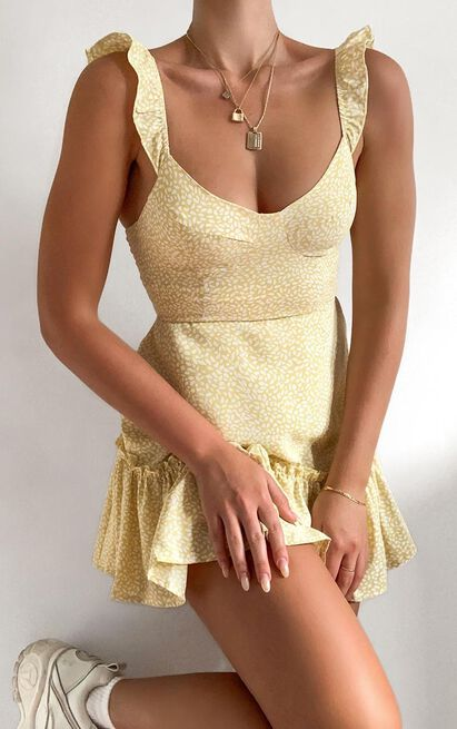 Vivi Dress in yellow - 8 (S), Yellow, hi-res image number null