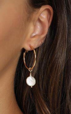Minc Collections - Ocean Hoop Earrings In Gold