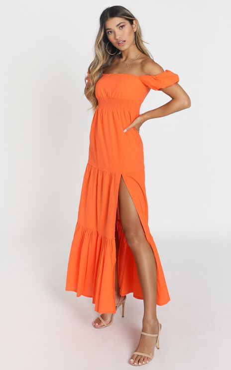 Island Hopper Dress in Orange