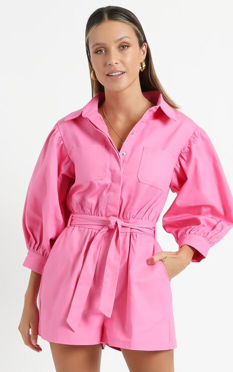 Aoko Playsuit in Pink