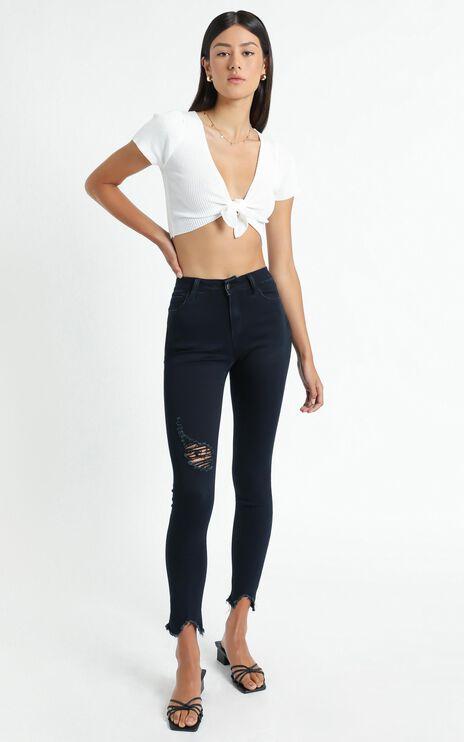 Clarissa Skinny Jeans In navy Wash