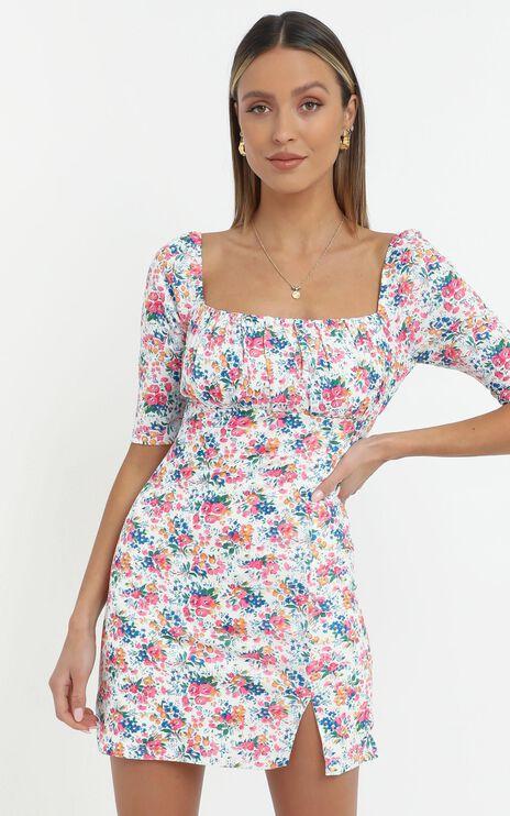Elka Dress in Vivid Floral