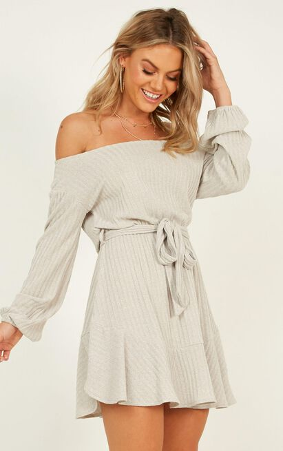 Total Relaxation Dress in grey marle - 20 (XXXXL), Grey, hi-res image number null