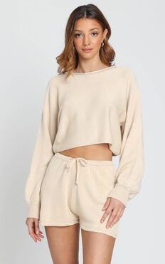 Hartley Knitted Jumper in Oatmeal