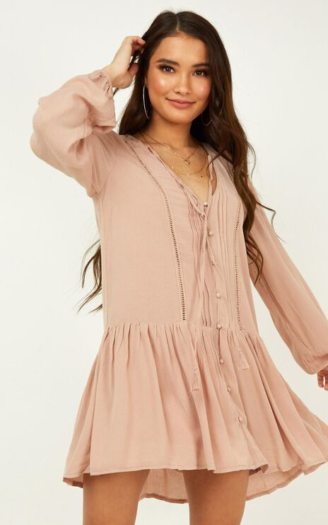 Unlike Anything Dress In Mocha