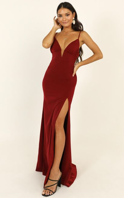 Belle Of The Ball Maxi Dress in wine - 20 (XXXXL), Wine, hi-res image number null