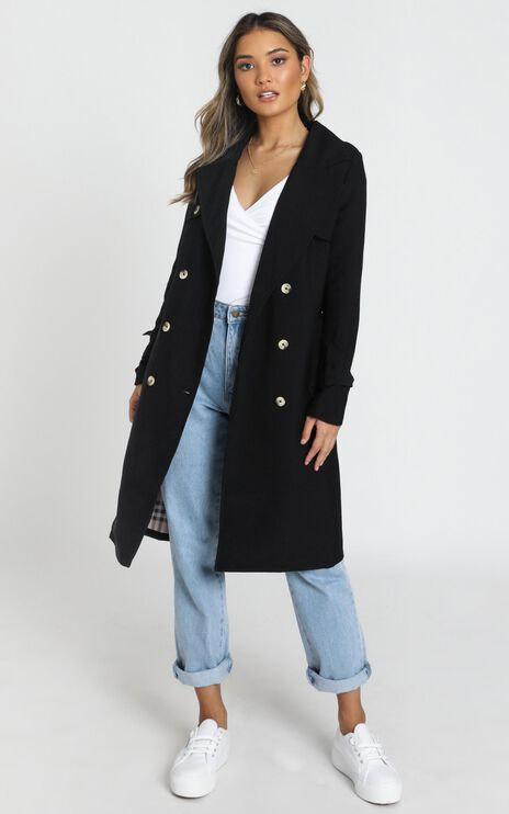 Coolest Girl Trench Coat In Black