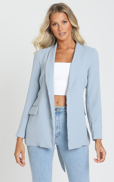 Action Needed Blazer In Powder Blue