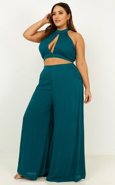 Better Off Now Two Piece Set In Teal