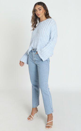 Bethen Fluffy Knit in Blue