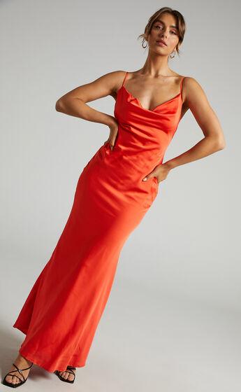 Lunaria Dress in Oxy Fire