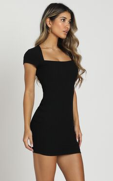Defying Gravity Dress In Black Rib