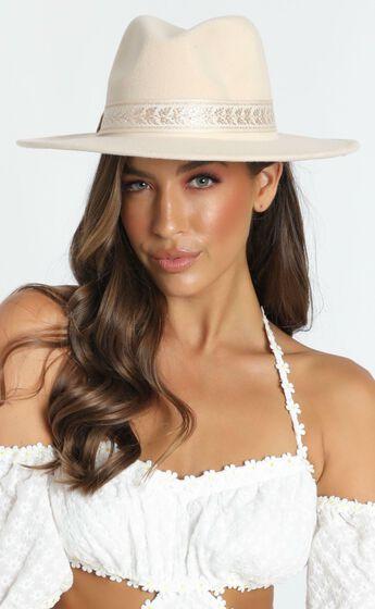 Anita Felt Hat in Beige