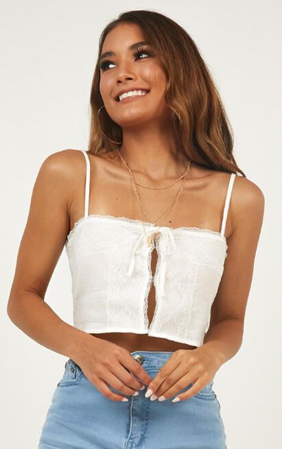 True To This Top in white embroidery - 16 (XXL), White, hi-res image number null
