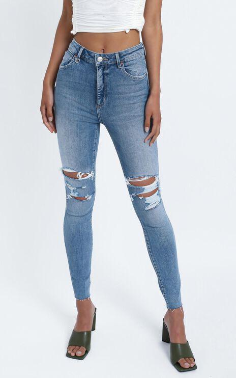 Neuw - Marilyn Skinny Jean in Zero Preloved Rip