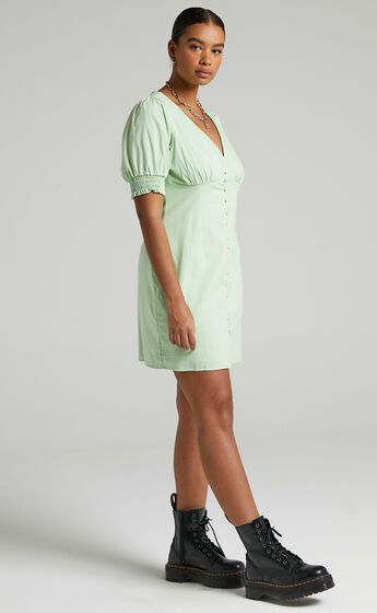 Feronia Dress in Apple Green