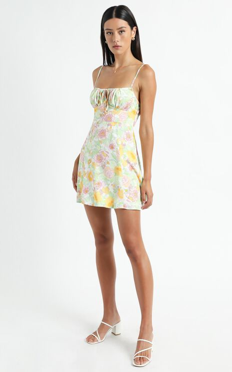 Barreta Dress in Linear Floral