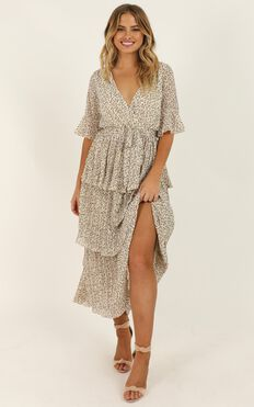 Begging For You Dress In White Floral